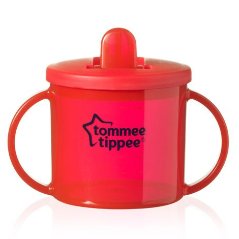 Tommee Tippee Essentials First Flip Top Cup Red Twin Pack