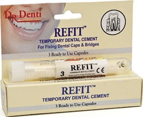 Dr Denti - Refit Tooth Temporary Cement Capsules (3 Capsules per tube)