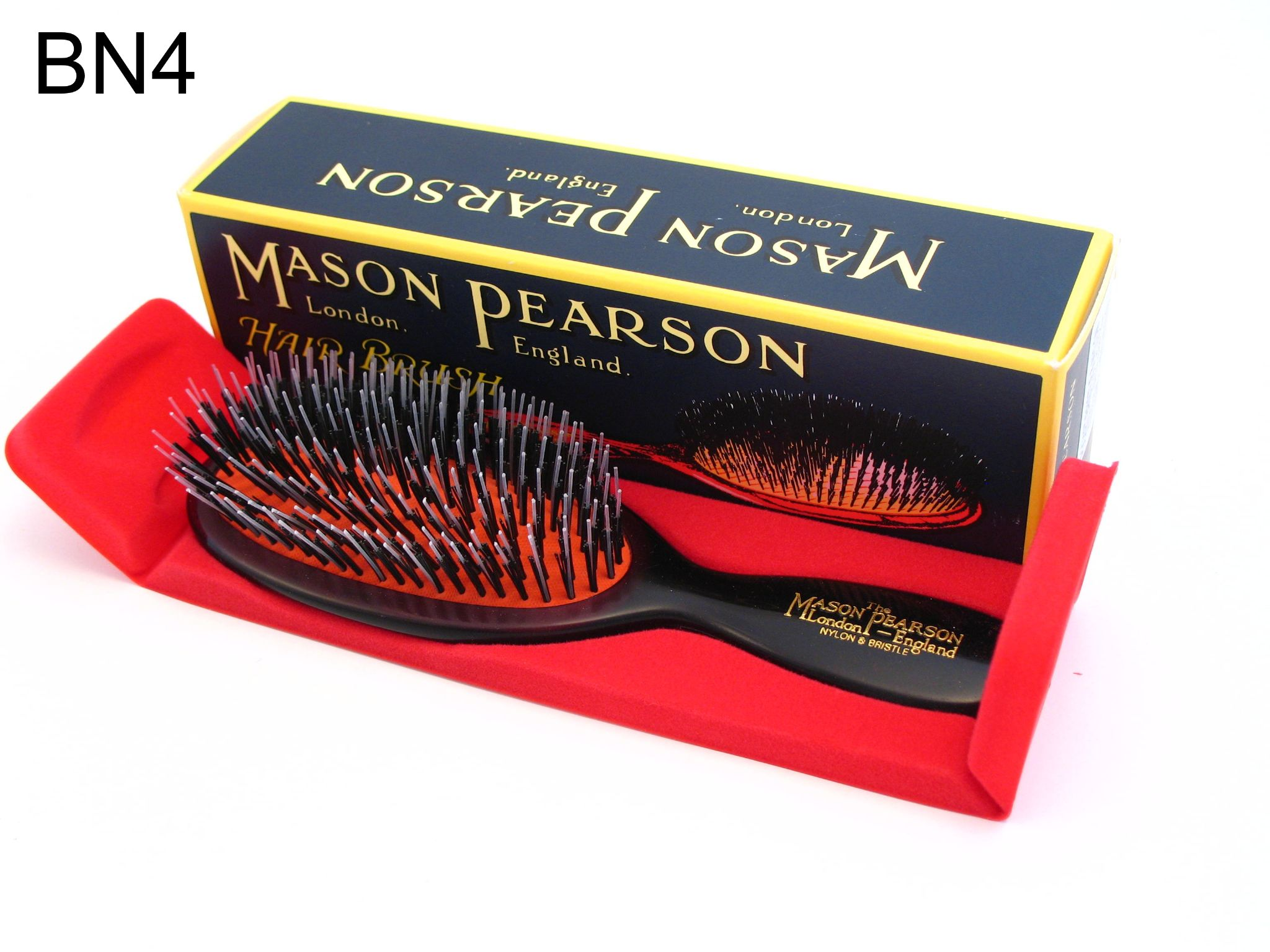 Dejlig Mason Pearson Pocket Size Bristle and Nylon Hairbrush BN4 Dark Ruby ZJ-41